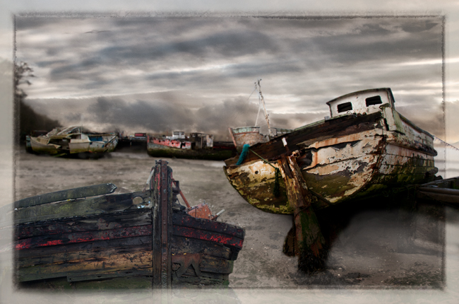 Abandoned Boats  Pin Mill  IDN0194405-GRB